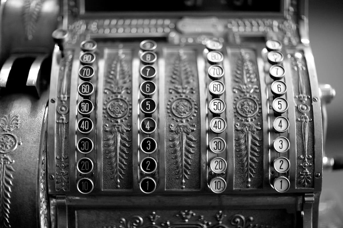 Mechanical cash register POS system