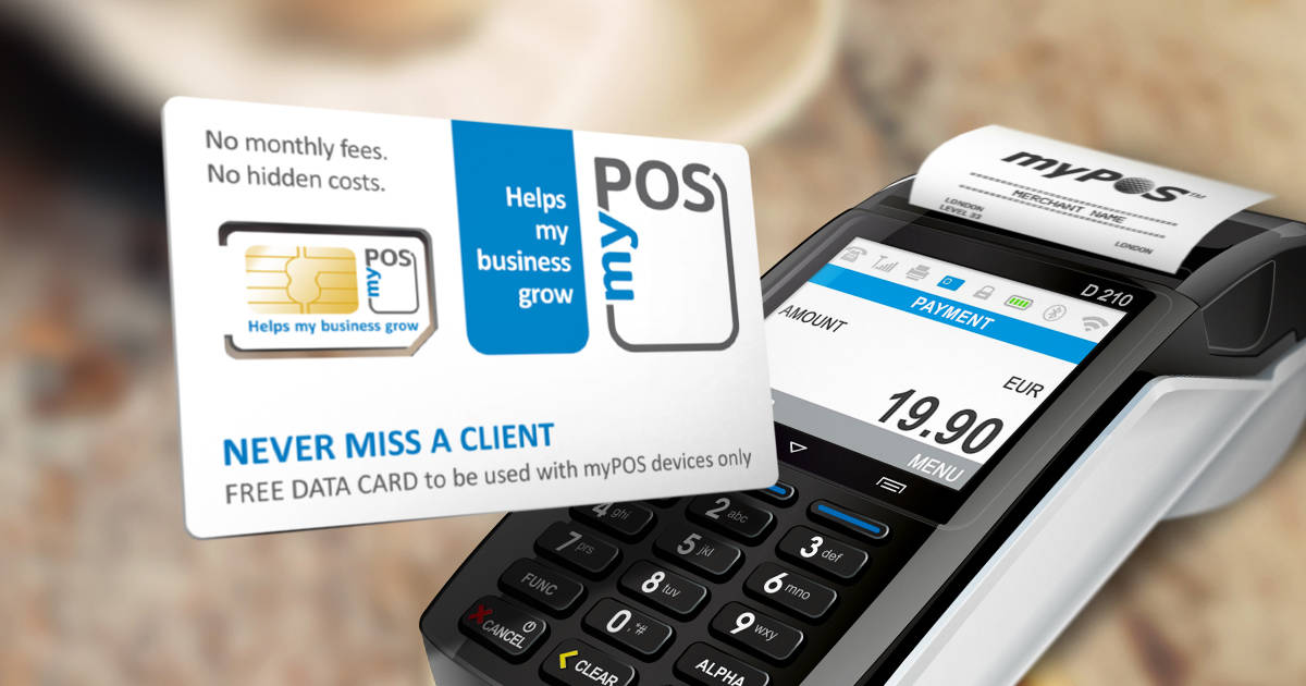 Keep your business connected with myPOS DATA Card