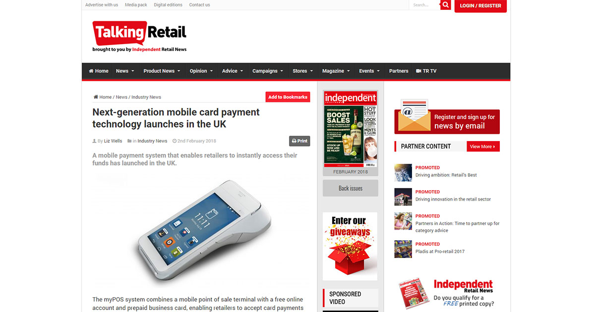 Next-generation mobile card payment technology launches in the UK