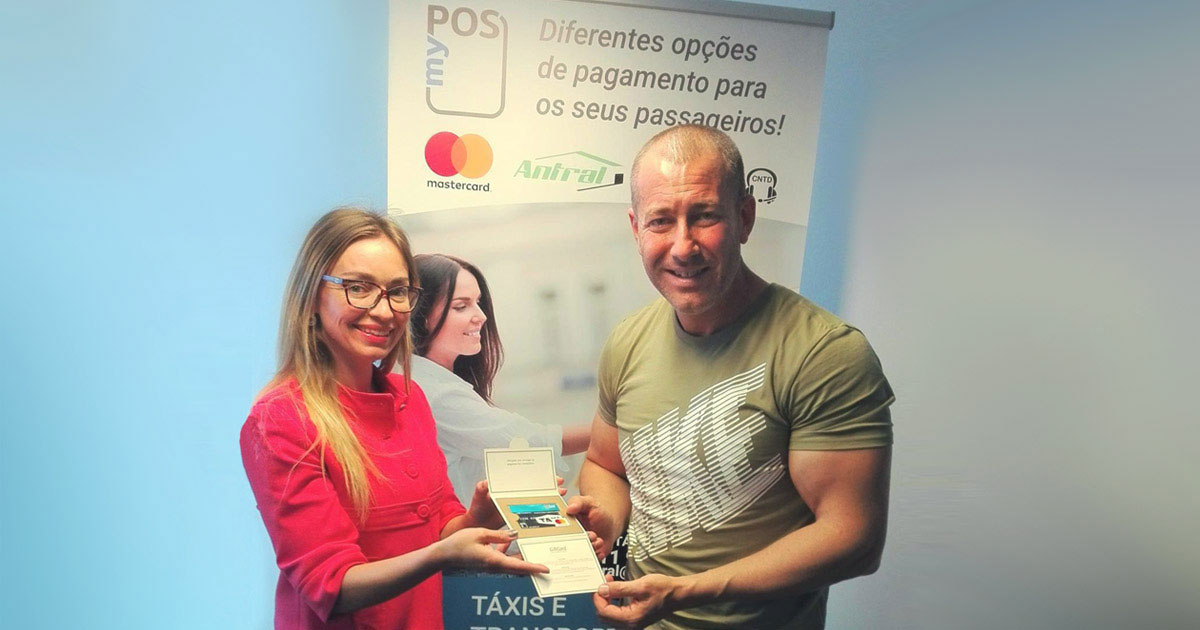First Lucky Winner of the myPOS Taxi Competition in Portugal