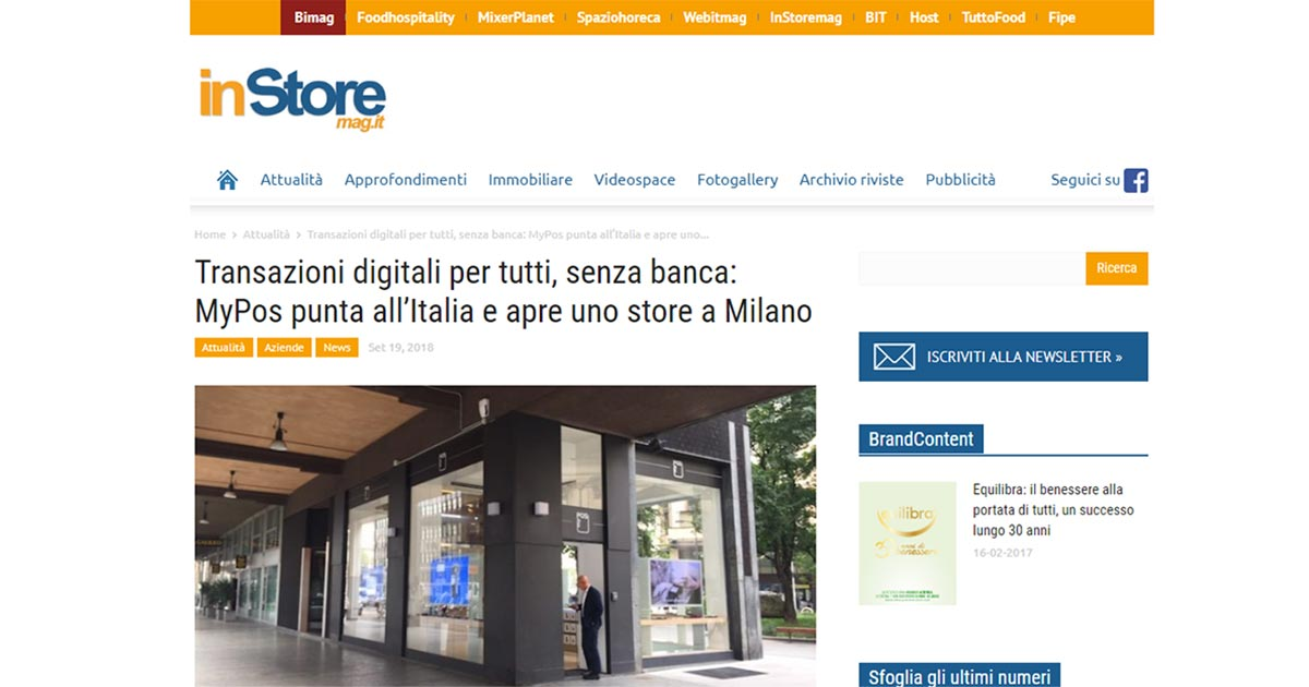 Transazioni digitali per tutti, senza banca: MyPos punta all'Italia e apre uno store a Milano