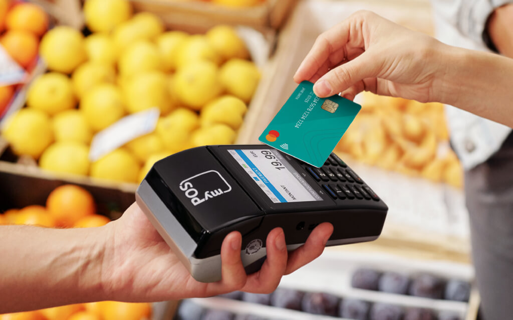 An image of a card reader payment method