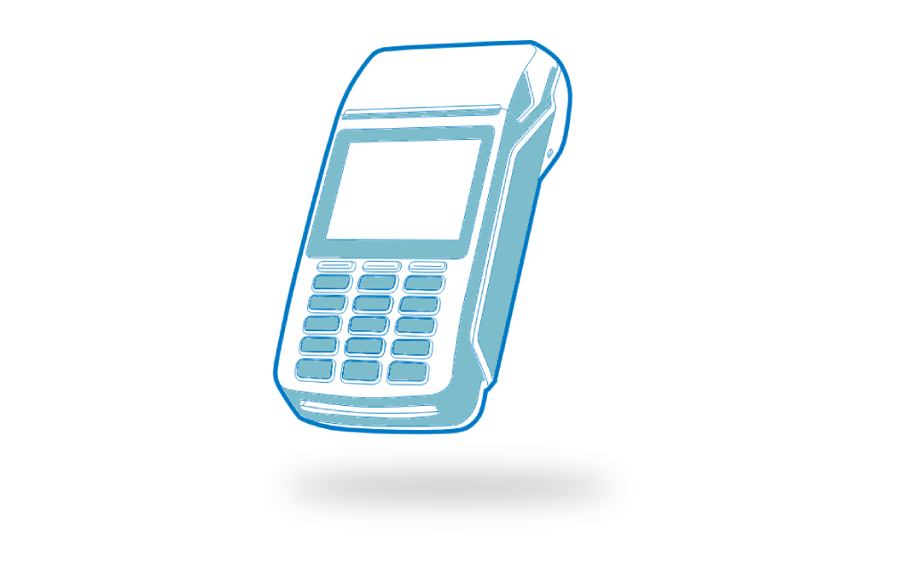 A vector image showing what is a card reader